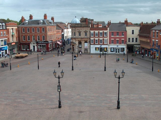 Newark marketplace from the town hall