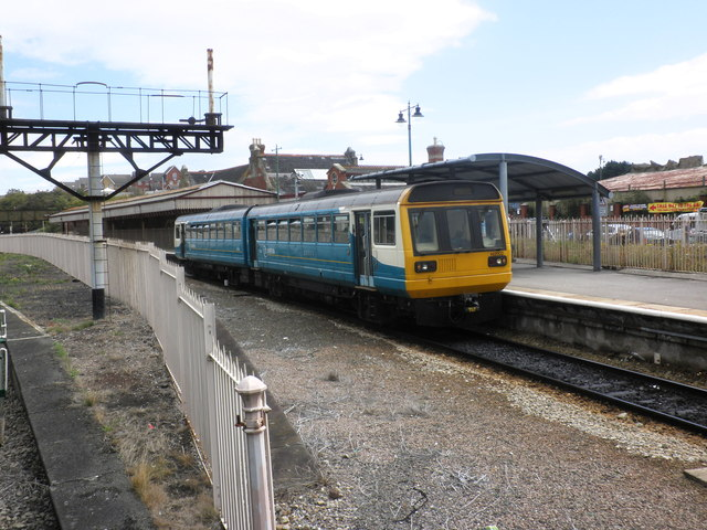 Arriva train leaves Barry Island for Aberdare