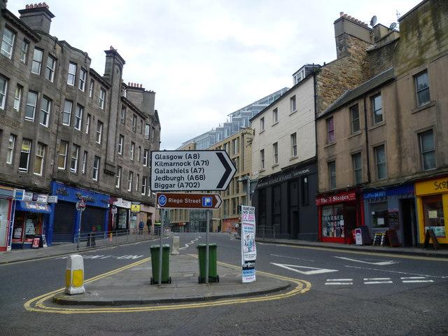 Road sign at Main Point