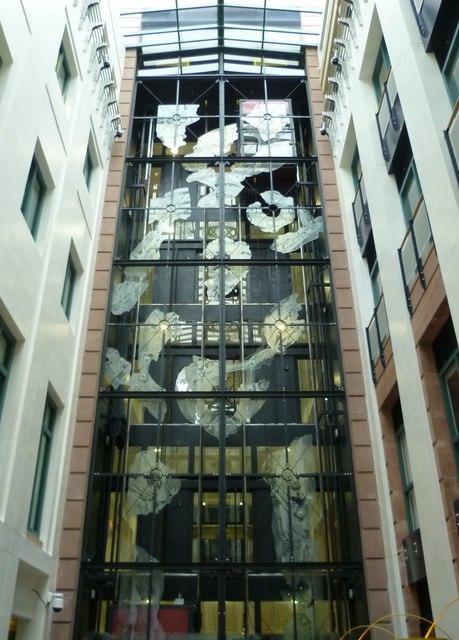 Traverse Theatre lift shaft, Cambridge Street