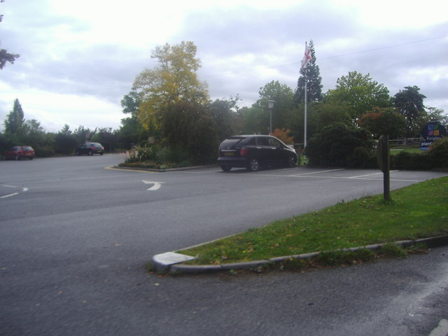 Car park in Knights Garden Centre, Oxted Road