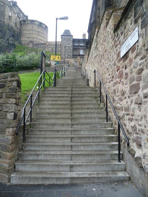 Granny's Green Steps, Grassmarket
