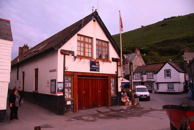The lifeboat station in Port Isaac