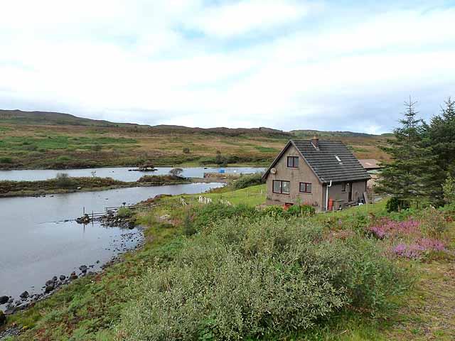 Fish farm at the head of Loch Frisa