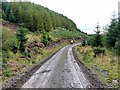 NM4850 : Forest road above Loch Frisa by Oliver Dixon