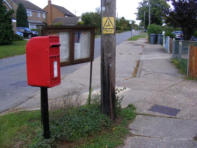 Chapel Road, Notice Board & 2, Newlands Postbox
