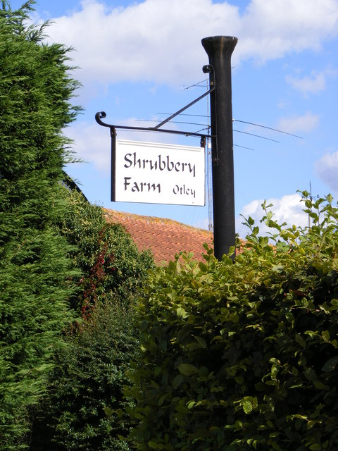 Shrubbery Farm sign