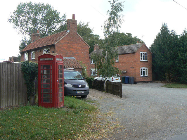 Cottages and telephone box