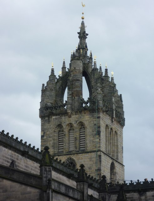 Spire of St. Giles from the High Street