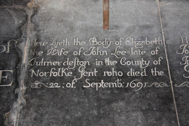 All Saints, Wood Norton - Ledger slab