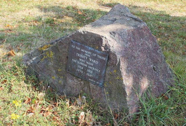 Trinity Ward war memorial, Link Top, Malvern