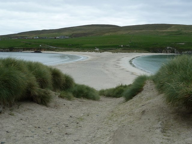 The tombolo viewed from St Ninian's Isle