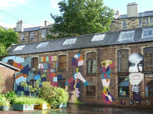 Leith Walk School playground mural