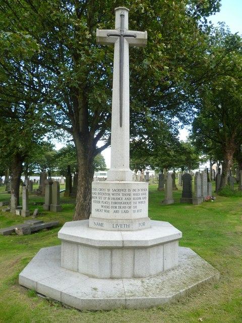 Cross of Sacrifice, Eastern Cemetery