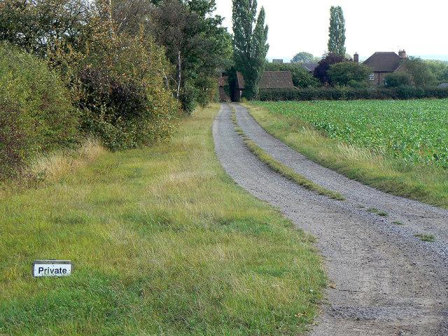 Drive to Lower Brackendale Farm