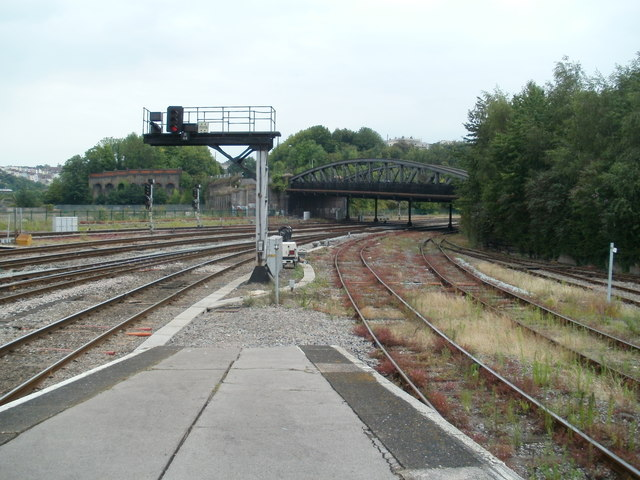Bath Road bridge viewed from Bristol Temple Meads station