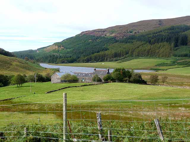Ledmore and the foot of Loch Frisa