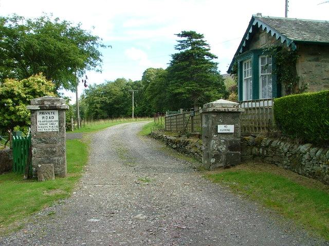 Entrance to Ardvorlich House