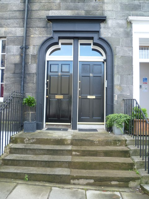 Doors in Gayfield Square