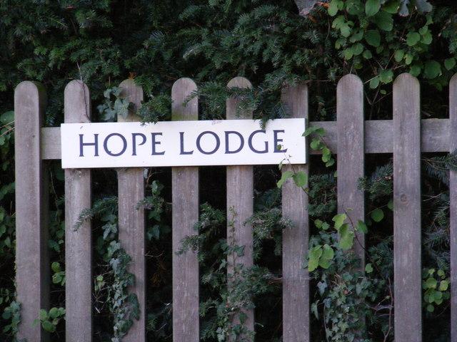 Hope Lodge sign