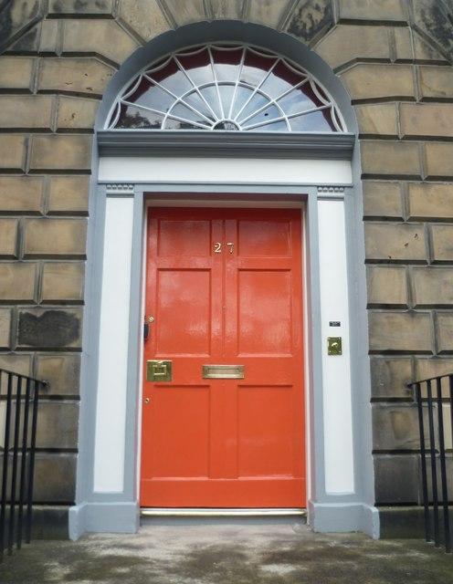 Classic Edinburgh New Town doorway, Gayfield Square