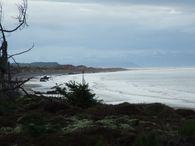 Looking over Burghead Bay to Findhorn, Culbin Forest beyond