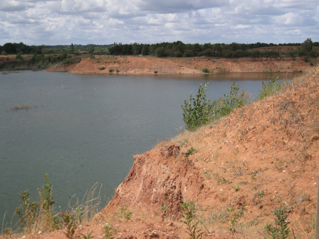 Flooded sand and gravel quarry