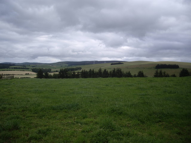 View SE from the track to Templand