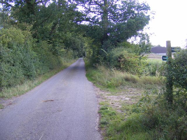 Hall Lane & the footpath along Hall Lane & B1079 Helmingham Road