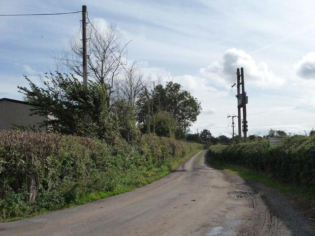 Private road to Grange Farm