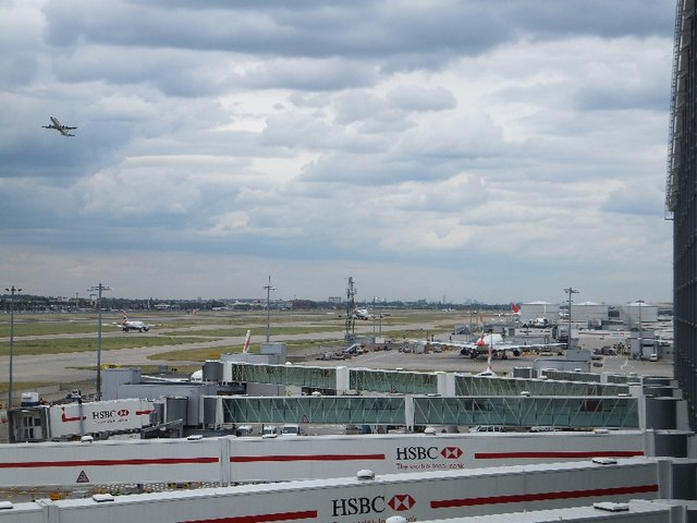 The north runway of Heathrow from Terminal 5