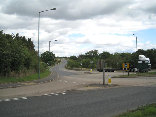 Road junction west of Meriden