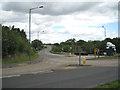 SP2382 : Road junction west of Meriden  by Robin Stott