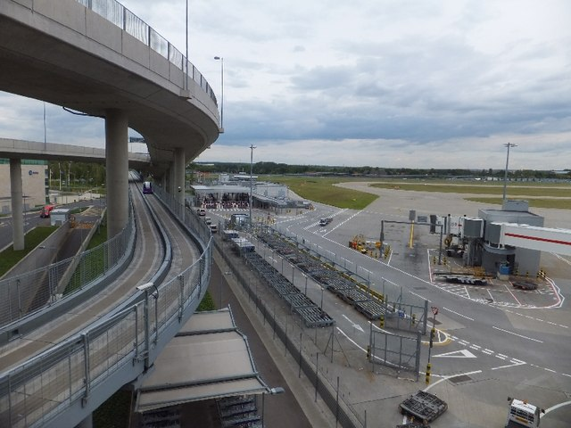Road access to Terminal 5, and the pod transport