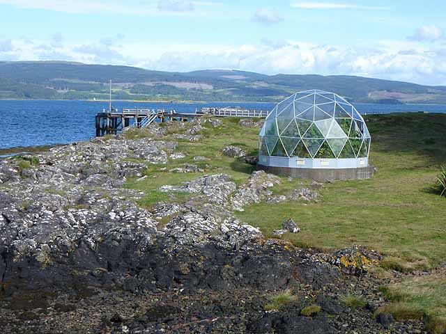 Greenhouse overlooking the Sound of Mull