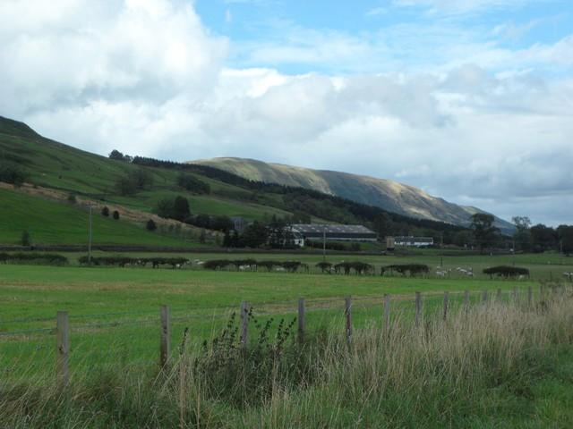 View to Ballagan Farm and the Campsie Fells