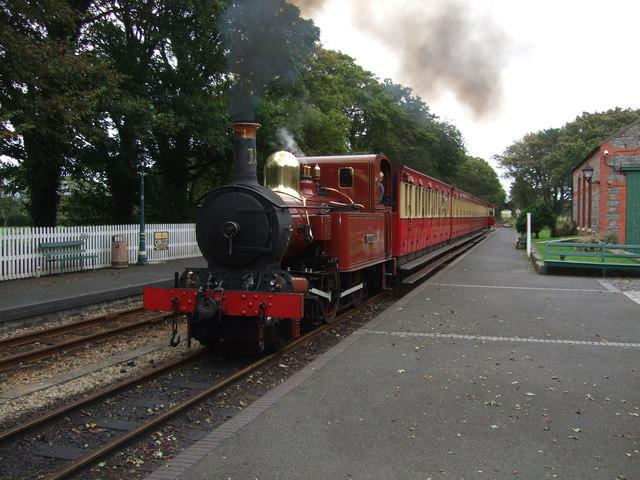 16.27 train for Port Erin arriving at Castletown