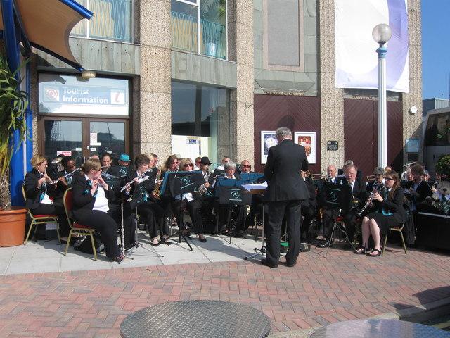 Band outside the Pavilion, Weymouth