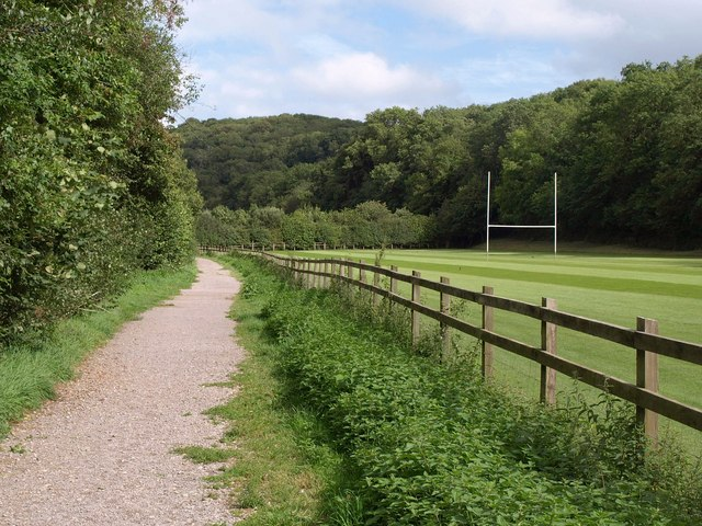 Path by the rugby pitch