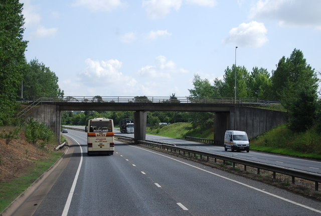 A11 approaching the B1085 bridge