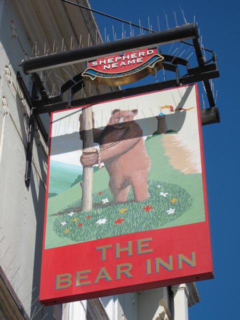The Bear Inn sign