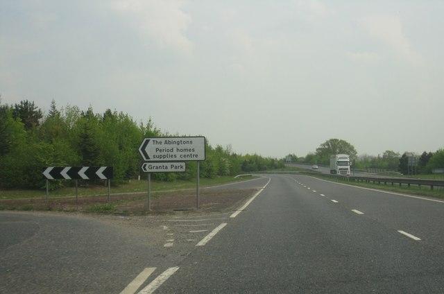 A505 - Granta Park turning