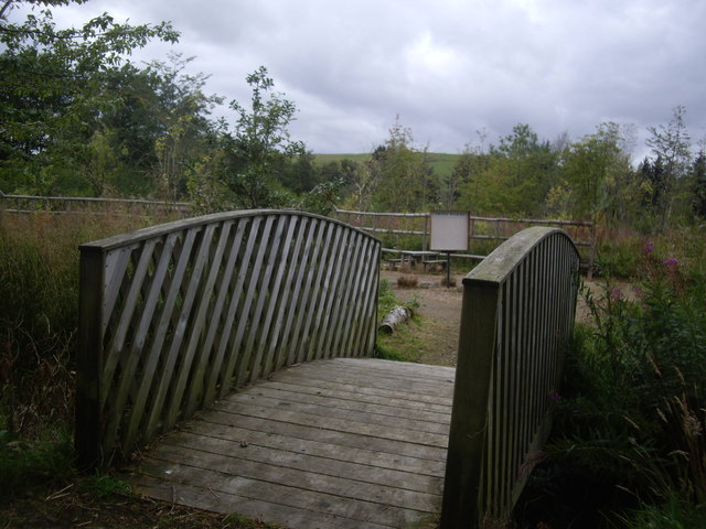 Footbridge access to playing field