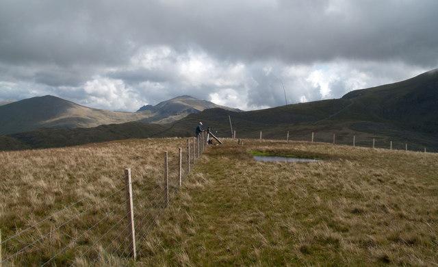 Summit area of Moel Cynghorion