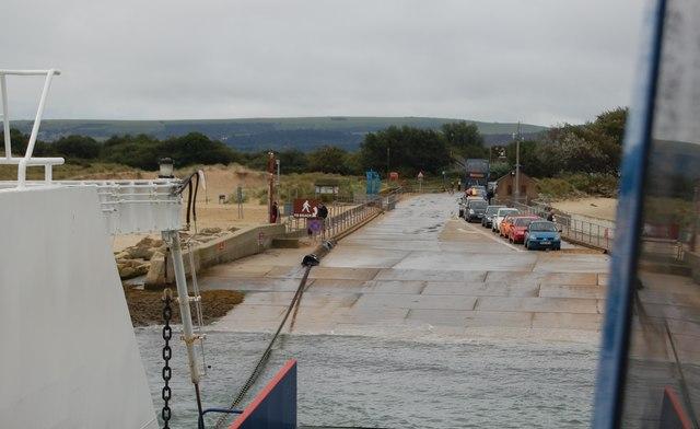 Ferry slipway at Shell Bay