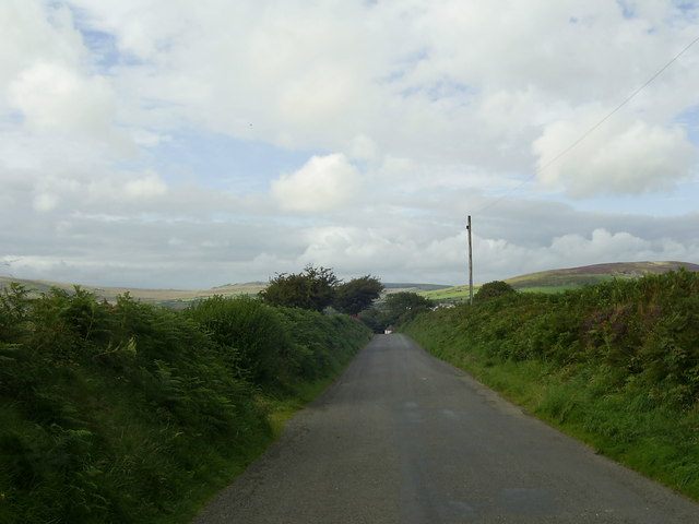 Country road north of Glandy Cross