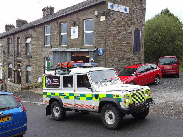 """""""Rossendale and Pendle Mountain Rescue Team"""" 46 Clegg Street, Haslingden, Rossendale, Lancashire BB4 5LW"""