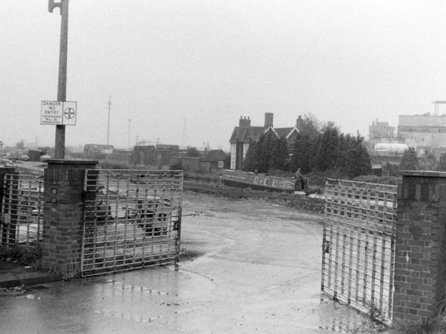 Entrance to Bayer Site, Stoke Works, 1983