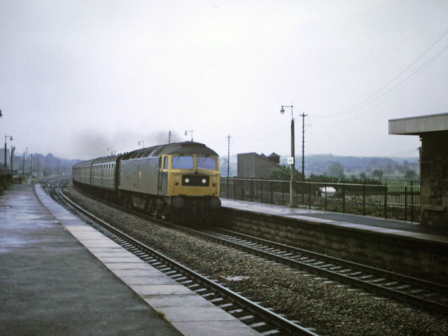 Class 47 at Lydney, 1980