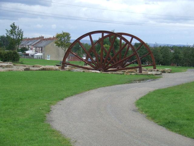 Old pit wheel, Herrington Country Park